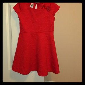 Red toddler dress